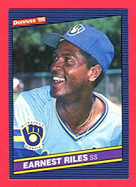 1986 Brewers - Ernest Riles