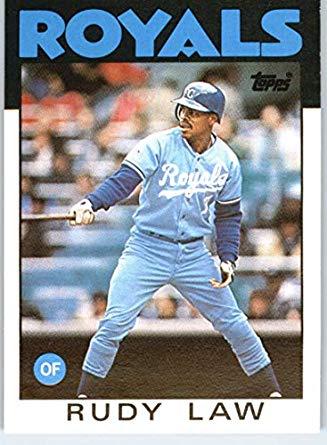 1986 Royals - Rudy Law